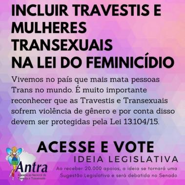 Campanha PL Feminicidio