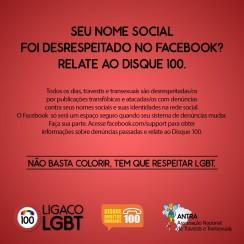 Campanha Facebook Nome Social