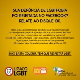 Campanha Facebook LGBTfobia